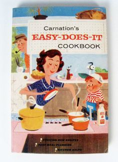 vintage Carnation Easy Does It cookbook - Mary Blake - 1950s