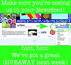 Be sure to see all of our posts on FB...we have a great giveaway next week! http://on.fb.me/VvkjSU