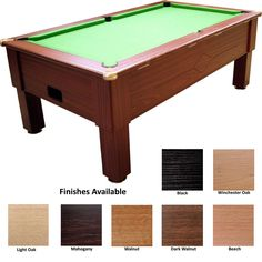 The Prime Freeplay Pool Table available in 6ft or 7ft models in a choice of cabinet finishes, £925.00 with Free delivery