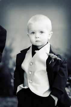 How adorable is he?! Love it! Photo by Chris #Minnesota #weddings #kidsinweddings