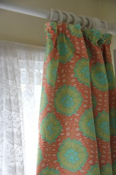 lined curtains by sea green and sapphire