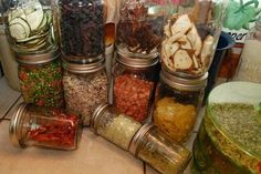 storing and using dried foods