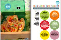 School lunches can be so much more than sandwiches. Branch out this year and try making these yummy mini quiches for your kids' lunch box. #backtoschool   Find more on page 42 Kidspot's Hints and Hacks magazine http://www.kidspot.com.au/backtoschool/flipbook.asp