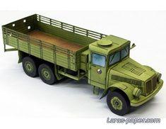 """Автотранспорт грузовой - """"Модели из бумаги"""""""