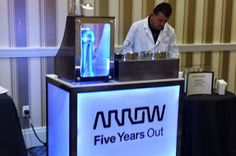 Custom liquid nitrogen event catering for events and trade shows.
