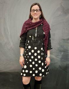 Love this Schoolhouse Tunic sewn with Nani Iro