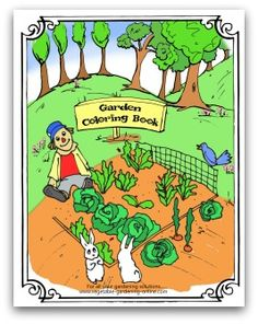 Free printable vegetable garden coloring book for preschool through elementary age kids! Includes pages on tomatoes, corn, broccoli, green beans, lettuce, radishes, and many more.