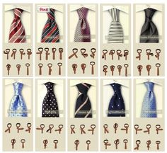 как завяать галстук