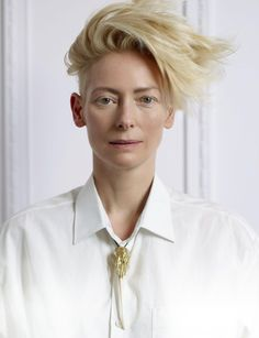 Tilda Swinton, photographed by Jean-Baptiste Mondino for Madame Figaro, April 2016.