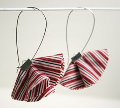 pretty fabric earrings