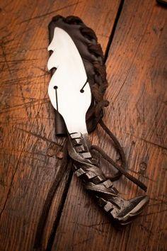 Hot Saw Railroad Spike Handmade Knive by Cinescape Studios for BourbonandBoots.com