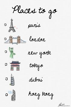 I've done Paris, London, New York, Tokyo, and Hong Kong--- now all I need is Dubai   I've done the lot!