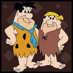 Fred Flintstone and Barney Rubble