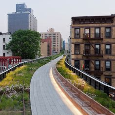 Close up of The High Line in New York.  -   http://laughingsquid.com/strolling-the-high-line-in-new-york-city-with-google-street-view/