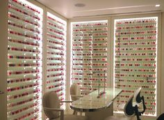 Nail Polish Room @Veronica chavez i can totally see u having a room like this in…