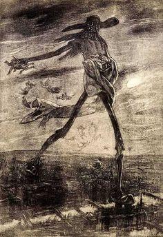 Félicien Rops (Belgian, 1833-1898). Satan sème l'ivraie