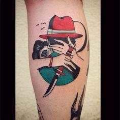 Neo Traditional Tattoo - Bildideen - Tattoos Piercings - Neo Traditional T. Ankle Tattoo, Arm Tattoo, Sleeve Tattoos, Tattoo Bird, Monster Tattoo, Neo Traditional Tattoo, American Traditional, Badass Tattoos, Body Art Tattoos