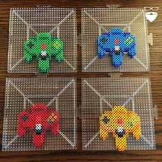 controllers perler beads by piercepopart Pony Bead Patterns, Pearler Bead Patterns, Perler Patterns, Beading Patterns, Perler Bead Templates, Diy Perler Beads, Pixel Beads, Fuse Beads, Hamma Beads Ideas
