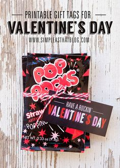Printable Pop Rocks Valentine's Day Gift Tags