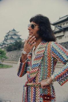 Freddy Mercury in Japan, April 22, 1975