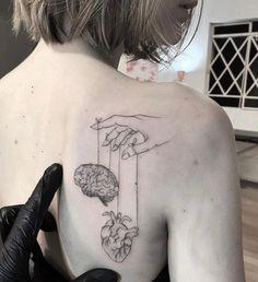 Mini Tattoos, Body Art Tattoos, Small Tattoos, Sleeve Tattoos, Unique Tattoos, Flower Tattoos, Tatoos, Tattoo Life, Brain Tattoo