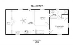 14 x 40 floor plans with loft | model 107 16x40 640 8 windows ¾ bath w