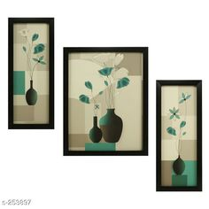 Checkout this latest Paintings_500-1000 Product Name: *Decorative Wall Paintings (Set Of 3)* Material: Wood & Plastic Size: Frame 1 (L x W) - 12.5 in x 5.2 in Frame 2 (L x W) - 9.5 in x 12.5 in Frame 3 (L x W) - 12.5 in x 5.2 in   Description: It Has 3 Pieces Of Frames With Painting (Glass Is Not Included) Work: Printed Country of Origin: India Easy Returns Available In Case Of Any Issue   Catalog Rating: ★4.1 (2607)  Catalog Name: Synthetic Wooden Frames Vol 8 CatalogID_26316 C127-SC1611 Code: 503-253897-456