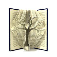 Book folding pattern - FAMILY TREE - 295 folds + Tutorial with Simple pattern - Heart - FL0202