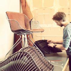 The making of Wire Chairs by Overgaard & Dyrman www.oandd.dk
