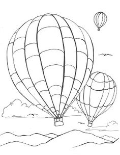 Creators Joy Hot Air Balloon Coloring Page