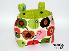 Lenkertasche Äpfel grün von Woll-KE auf DaWanda.com