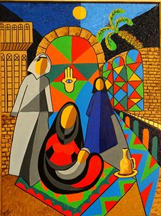 Tara Alzahawi   ...my painting symbolizes my civilization..Iraq :)