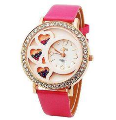 Relógio Coração com Stras (feminino)