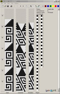 loom beading patterns Source by miskocarneim Bead Crochet Patterns, Bead Crochet Rope, Beaded Jewelry Patterns, Beading Patterns, Beaded Crochet, Bracelet Patterns, Seed Bead Tutorials, Beading Tutorials, Motifs Perler