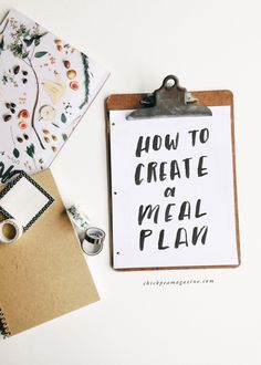 how to create a meal plan - chickpea mag