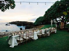 Romantic Seaside Dinner at Kukahiko Estate - Bliss Wedding Design & Spectacular Events