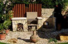 Egyszerű, mégis nagyon szép és kreatív kerti sütő, ahol mindennek megvan a helye. Fotó: pinterest.com