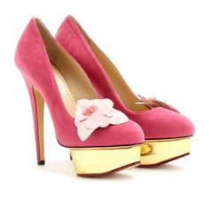 DOLLY ORCHID PLATFORM PUMPS Charotte Olympia I want a pair in every color please!