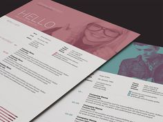 "Love the two tone resume photo header look here as well as the section headings ""Who I am"" etc. Aaron Sheppard and look at my ""? - Design - Resumes"" board. Creative Resume Design, Resume Style, Resume Design, Curriculum Vitae, CV, Resume Template, Resumes, Resume Format."