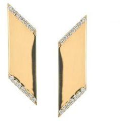 LANA JEWELRY Vanity Expose Diamond & 14K Yellow Gold Stud Earrings