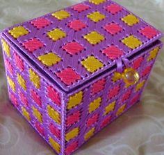 Ribbon Embroidered Plastic Canvas Jewelry/Keepsake Box - Instructable by creativegirlz