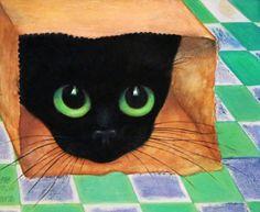 American Artist Margaret D. Keane For Sale - 27 Listings Big Eyes Margaret Keane, Keane Big Eyes, Margareth Keane, Black Cat Art, Black Cats, Nostalgia Art, Big Eyes Artist, Artist Alley, Painter Artist