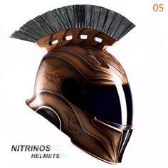 Спартанский шлем для мотоциклистов.  Посмотреть полное описание шлема и варианты окраски, можно на сайте www.nitrinos.ru