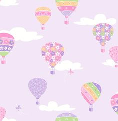 Create a space that's truly unique with Brewster You Are My Sunshine Hot Air Balloons Wallpaper. Made from unpasted non-woven material, this wallpaper is washable and strippable. This stylish wallpaper is sure to add the finishing touch to any room. Wallpaper Stores, Kids Wallpaper, Wallpaper Samples, Print Wallpaper, Colorful Wallpaper, Wallpaper Backgrounds, Balloon Show, Hot Air Balloon, Air Ballon