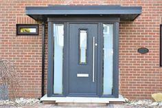 Porch Design And Installation - Designer HomeWorks Front Door Porch, Front Porch Design, Porch Roof, House Front, House Porch, Porch Designs, Door Canopy Modern, Over Door Canopy, Porch Canopy