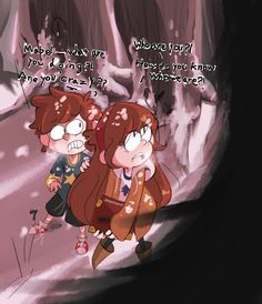 mabel and dipper encounter a shadow wraith-part 1 by Nelauk.deviantart.com on @DeviantArt