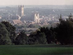 I love this view of Canterbury from the university.  The best part of my walk to town.