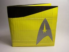Yellow Star Trek Duct Tape Wallet by chizry on Etsy, $15.00