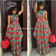 View our collection of Long Ankara Gowns. Pictures of The Latest Long Ankara Dress Styles in 2018 African Print Clothing, African Print Dresses, African Fashion Dresses, African Dress, African Prints, Ghanaian Fashion, African Outfits, Long Ankara Dresses, Ankara Dress Styles