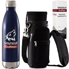 Wild Wolf Outfitters  1 Best Insulated Water Bottle with Holder 25oz Keep Your Drinking Water Cold up to 36 Hours and Hot Beverage Warm up to 12 Hours Military Grade Stainless Steel Water Bottle >>> Want to know more, click on the image.